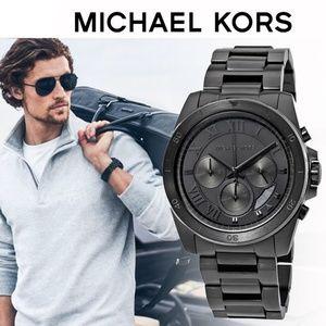 Michael Kors Brecken Chronograph Black IP Mens Wat